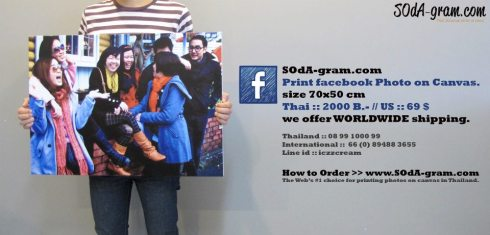 SOdA-gram.com – Print facebook photos on Canvas