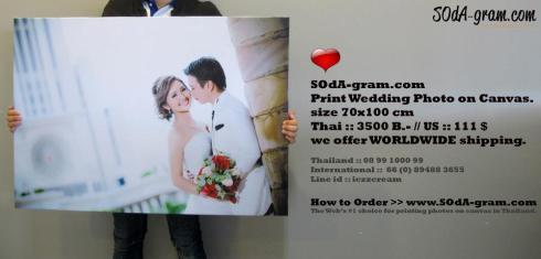 SOdAgram Print wedding photo on canvas ของขวัญ ของขวัญวันแต่งงาน