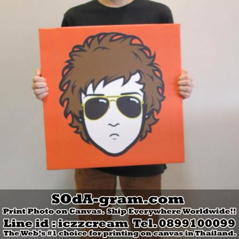 SOdA-gram.com Print #iMadeFace Photo on #Canvas
