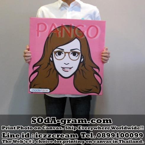 SOdA-gram.com :: Print #iMadeFace Photo on #Canvas